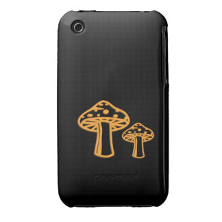 Neon Orange Mushrooms iPhone 3 Cover