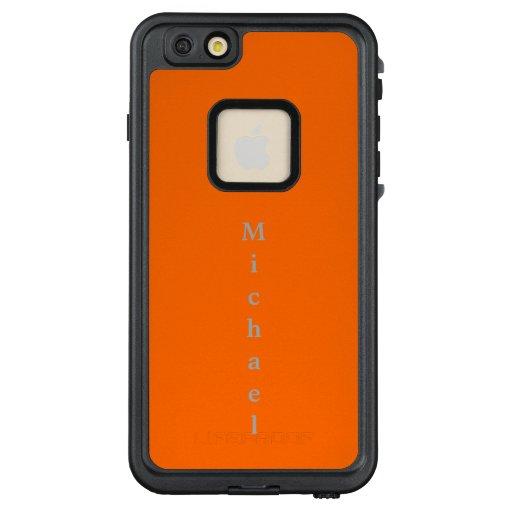 neon orange solid color LifeProof FRĒ iPhone 6/6s plus case