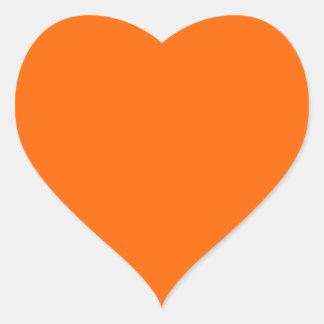 neon orange solid color heart stickers