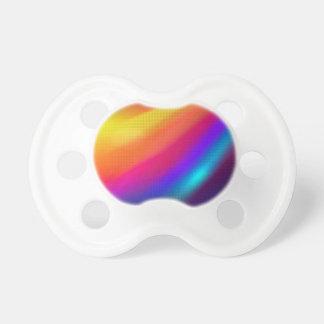 neon orange wave of color BooginHead pacifier
