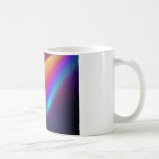neon orange wave of color coffee mug