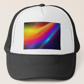 neon orange wave of color trucker hat