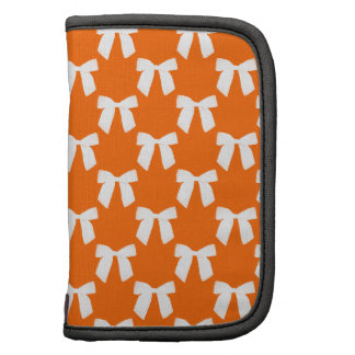 Neon Orange With White Bow Planners