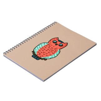 Neon Owl Notebook