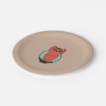 Neon Owl Paper Plate