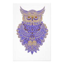 Neon Owl Stationery