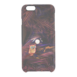 Neon Owl Thunderstorm Flash Fantasia Clear iPhone 6/6S Case