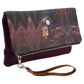 Neon Owl Thunderstorm Flash Fantasia Clutch