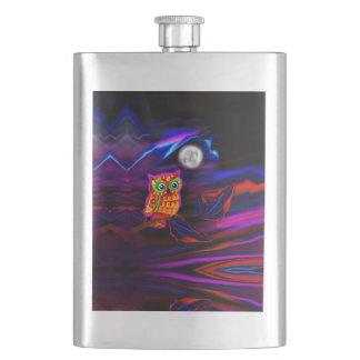 Neon Owl Thunderstorm Flash Flask