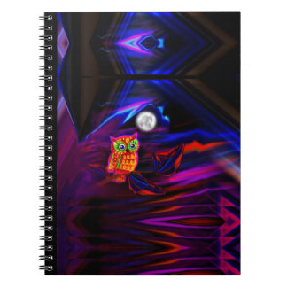 Neon Owl Thunderstorm Flash Notebook