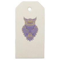 Neon Owl Wooden Gift Tags