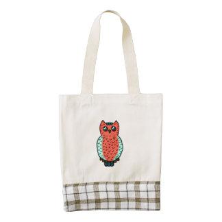 Neon Owl Zazzle HEART Tote Bag