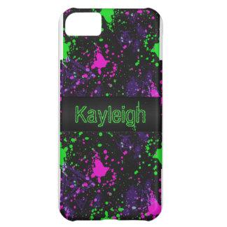 Neon Paint Splatter iPhone 5C Cover