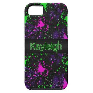 Neon Paint Splatter iPhone SE/5/5s Case