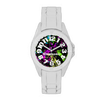 Neon Paint Splatter Watches