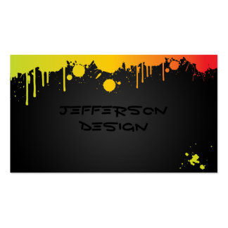 Neon Paint Splatters Double-Sided Standard Business Cards (Pack Of 100)