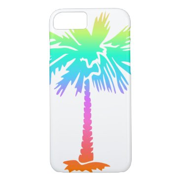 Beach Themed neon palm tree tropical summer bright colorful fun iPhone 7 case