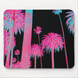 Neon Palm Trees Miami South Beach Mouse pad art