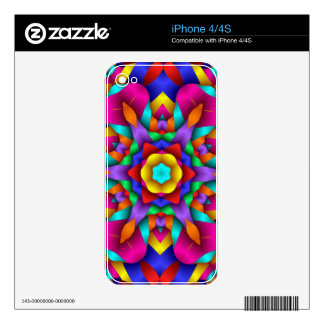 Neon Party Fun Design iPhone 4 Decal