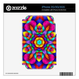 Neon Party Fun Design iPhone 3G Decals