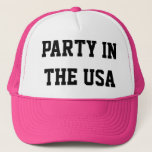 """Neon Party in The USA Trucker hat<br><div class=""""desc"""">You will be the life of the party in this neon hat. Bright,  colorful,  easy to wear and customize.</div>"""