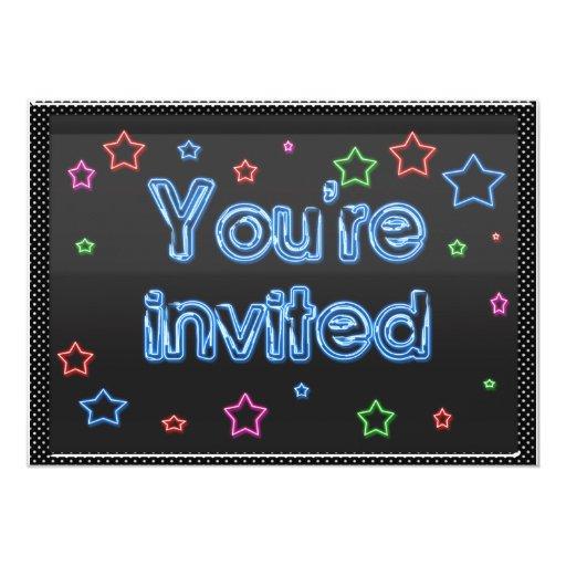 Neon Party Invitation
