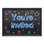 """Neon Party Invitation 5"""" X 7"""" Invitation Card"""