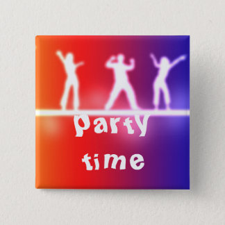 neon party pinback button