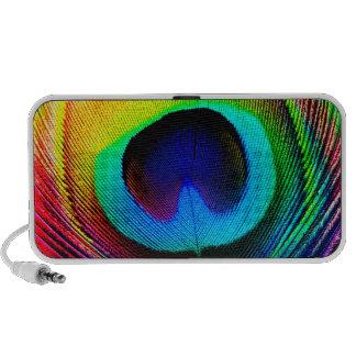 Neon Peacock Feathers Mini Speakers