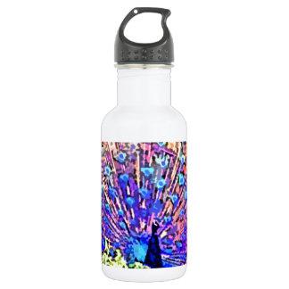 Neon Peacock Water Bottle