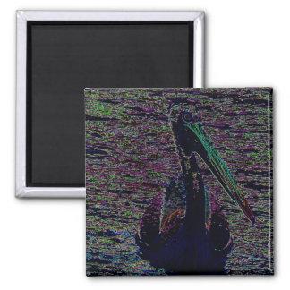 Neon Pelican Magnet