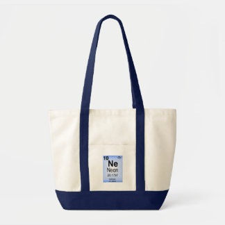 Neon Periodic Table Element Tote Bags
