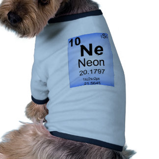 Neon Periodic Table Element Pet Clothes