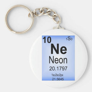 Neon Periodic Table Element Keychain