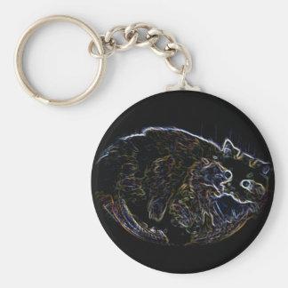 Neon Persian Cat Merchandise Keychain