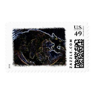 Neon Persian Cat Merchandise Stamp
