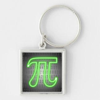 Neon Pi Day Sign Keychain
