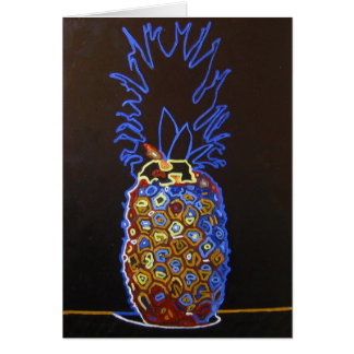 Neon Pineapple Greeting Card / Invitation