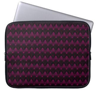 Neon Pink Alien Head Pattern Computer Sleeves