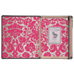 Neon Pink and Gold Damask iPad Covers