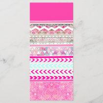 Neon pink Aztec patchwork floral paisley