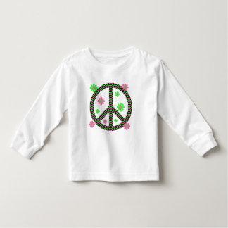 Neon Pink, Black and Green Chevron Stripes Toddler T-shirt
