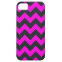 Neon pink black chevron pattern iPhone 5 covers