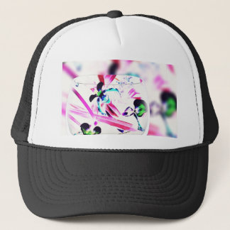 Neon Pink, Blue, Green Contemporary Orchid Design Trucker Hat