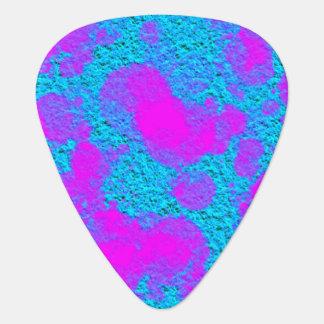 Neon Pink Blue Texture Pick Standard