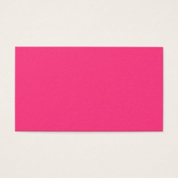Professional Business Neon Pink Business Card