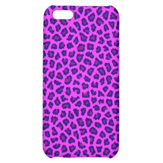 Neon Pink Cheetah Print iPhone 5C Case