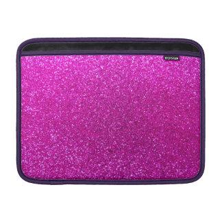 Neon pink glitter MacBook air sleeves
