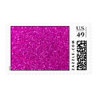 Neon pink glitter stamps