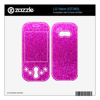 Neon pink glitter skins for LG neon